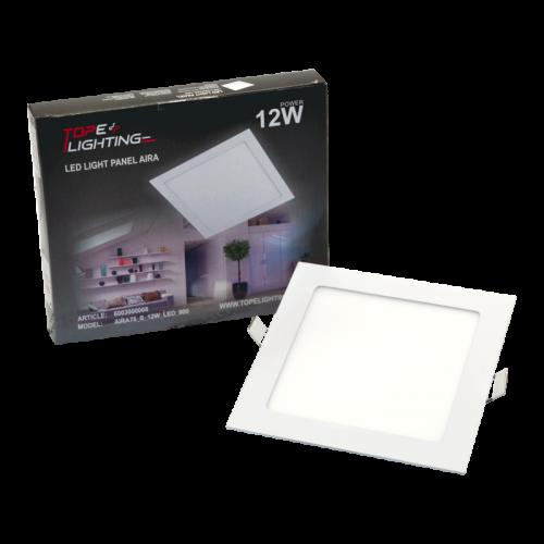 12W kvadratinė  įmontuojama LED panelė AIRA
