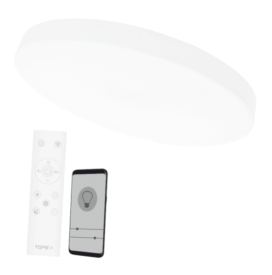 2x36 round white LED ceiling light BOSTON""